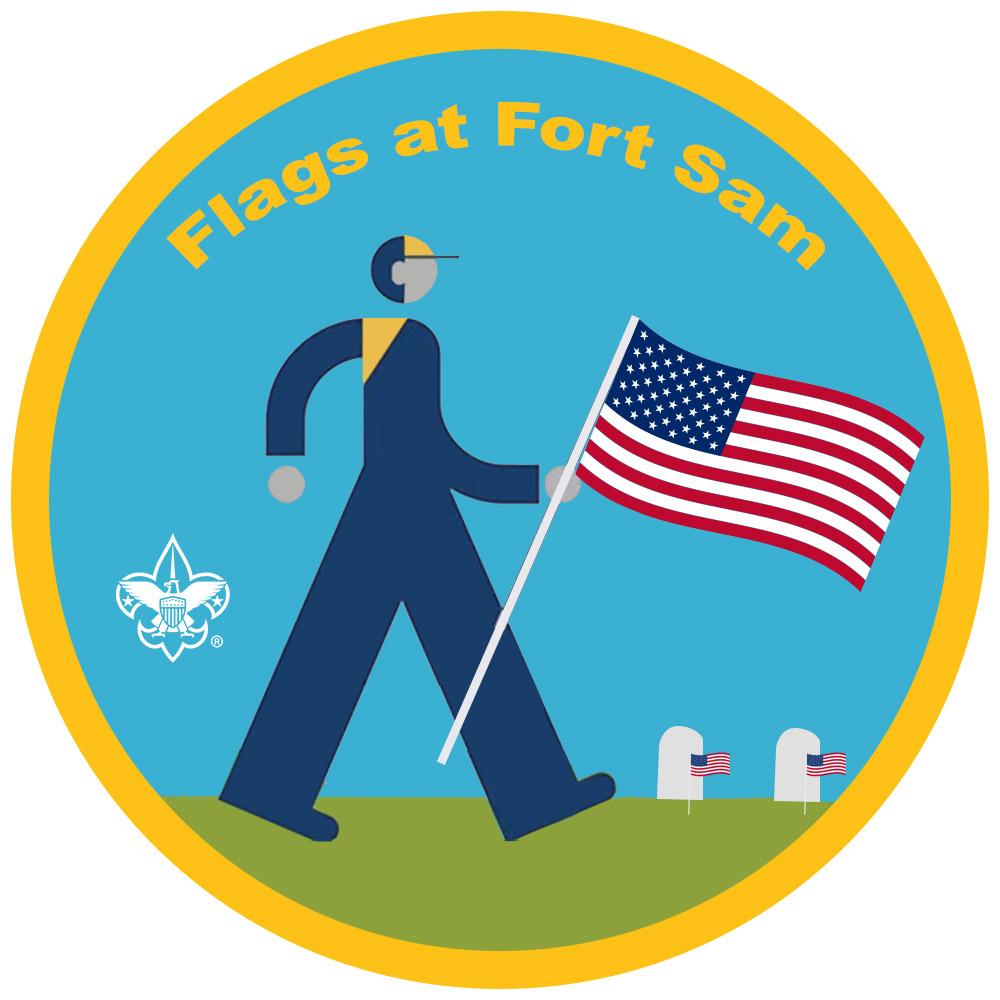 Flags at Fort Sam - Alamo Area Council